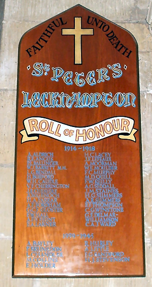 Leckhampton War Memorial Roll of Honour
